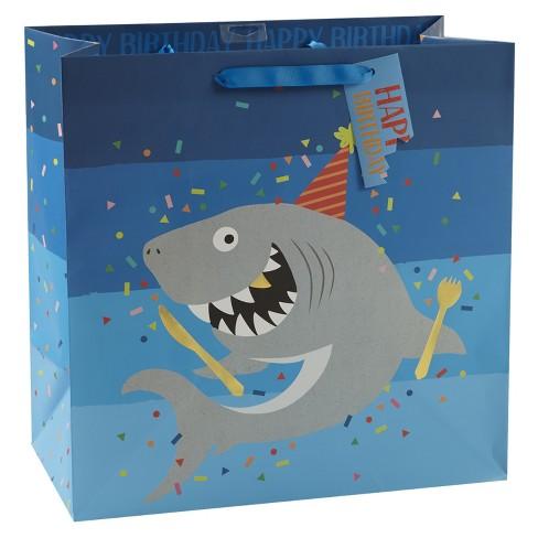 Large Shark Gift Bag - Spritz™ - image 1 of 1