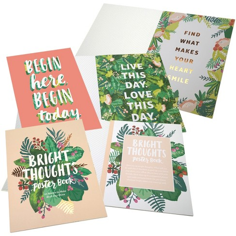 Bright Thoughts Poster Book - Green Inspired - image 1 of 1