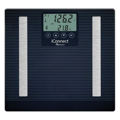 8 In 1 Iconnect Smart Digital Personal Scale Black - Detecto