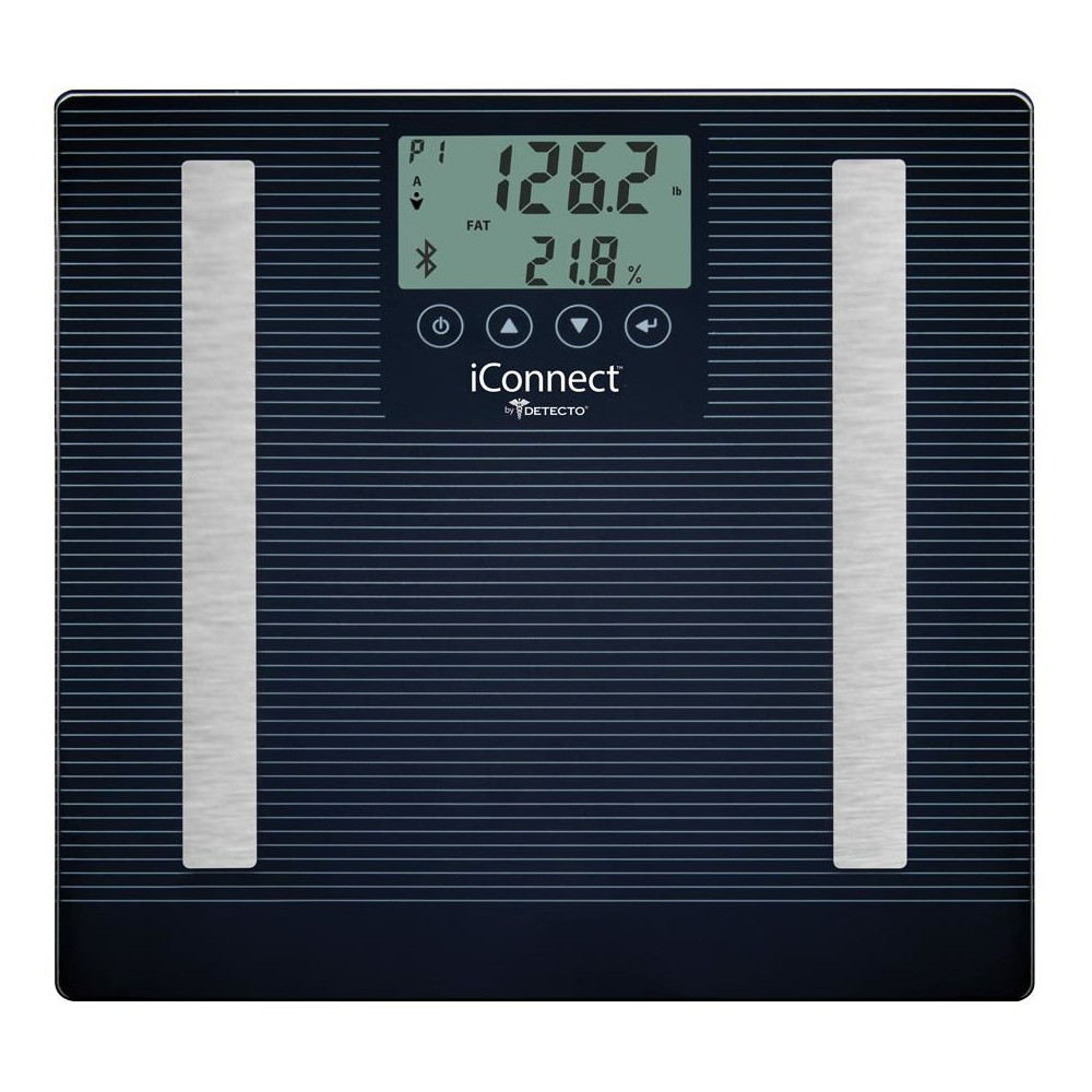 Image of 8 In 1 Iconnect Smart Digital Personal Scale Black - Detecto