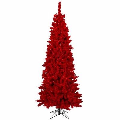 Vickerman Flocked Red Fir Artificial Christmas Tree