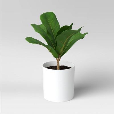 "9.5"" x 8"" Artificial Fiddle Leaf Plant - Threshold™"
