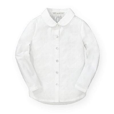 Hope & Henry Girls' Peter Pan Collar Shirt for Kids