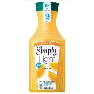 Simply Light Orange Pulp Free Juice - 52 fl oz