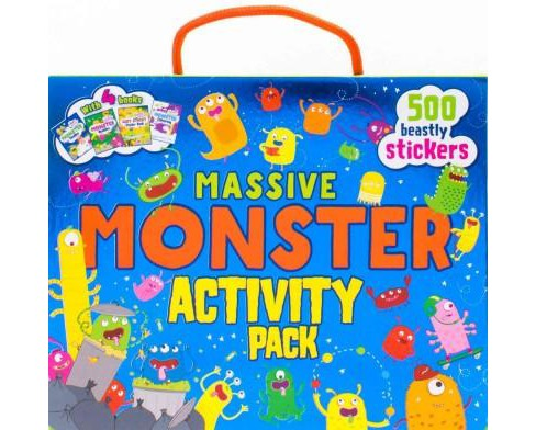 Massive Monster Activity Pack : 500 Beastly Stickers (Paperback) - image 1 of 1