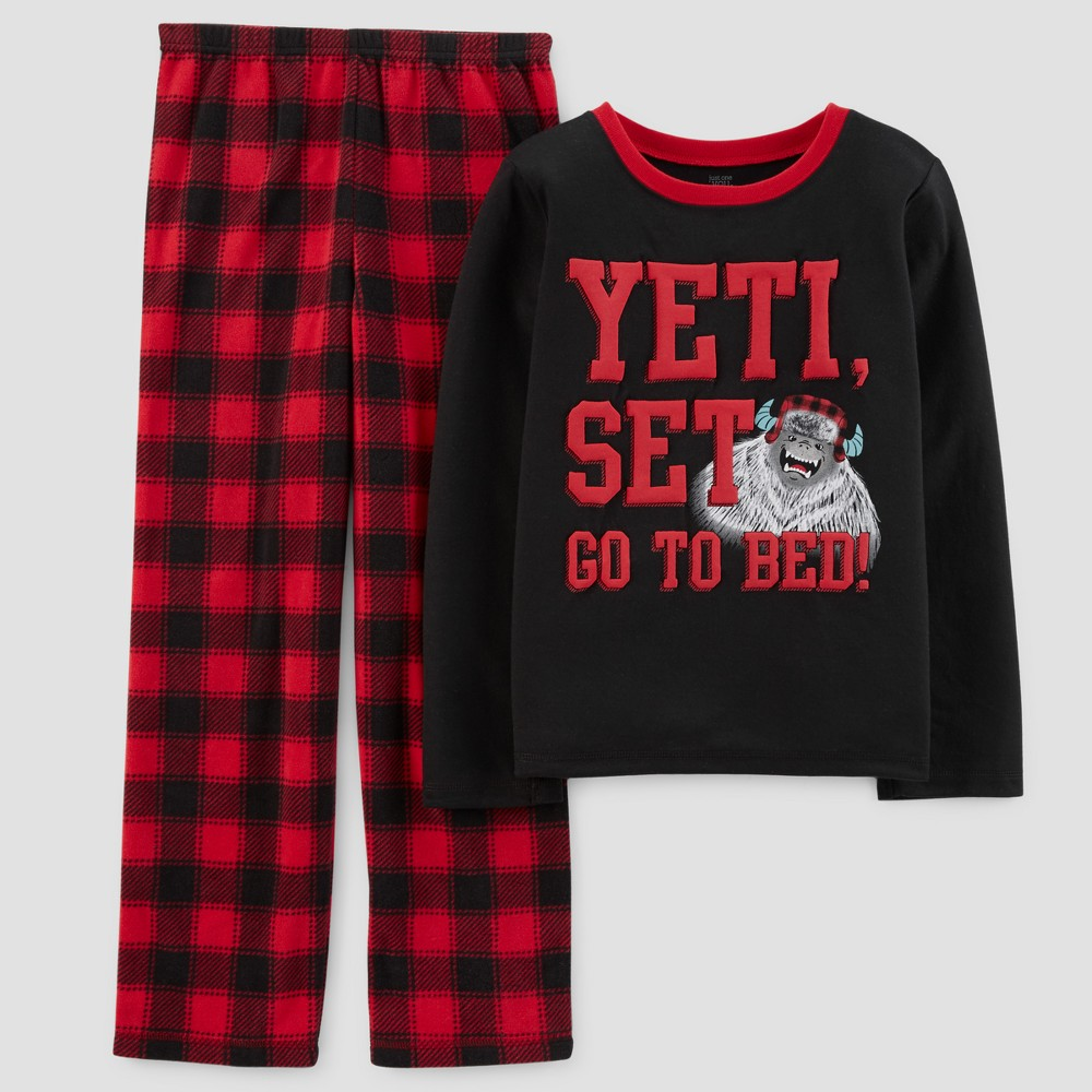 Just One You Made by Carter's Boys' 2pc Set Go To Bed Boy Pajama Set - Fudge Truffle Opaque 5, Black