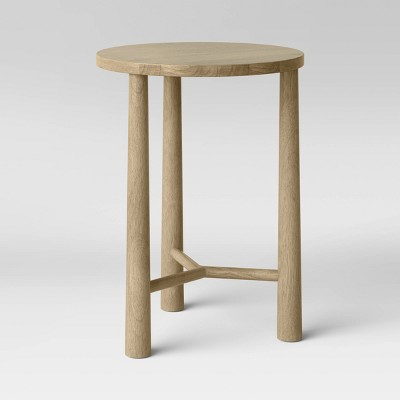 Vienna Round Wood Accent Table White Oak - Threshold™