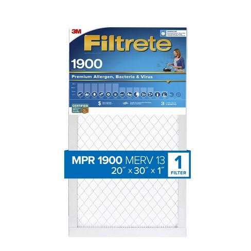 Filtrete Premium Allergen Bacteria and Virus Air Filter 1900 MPR - image 1 of 3