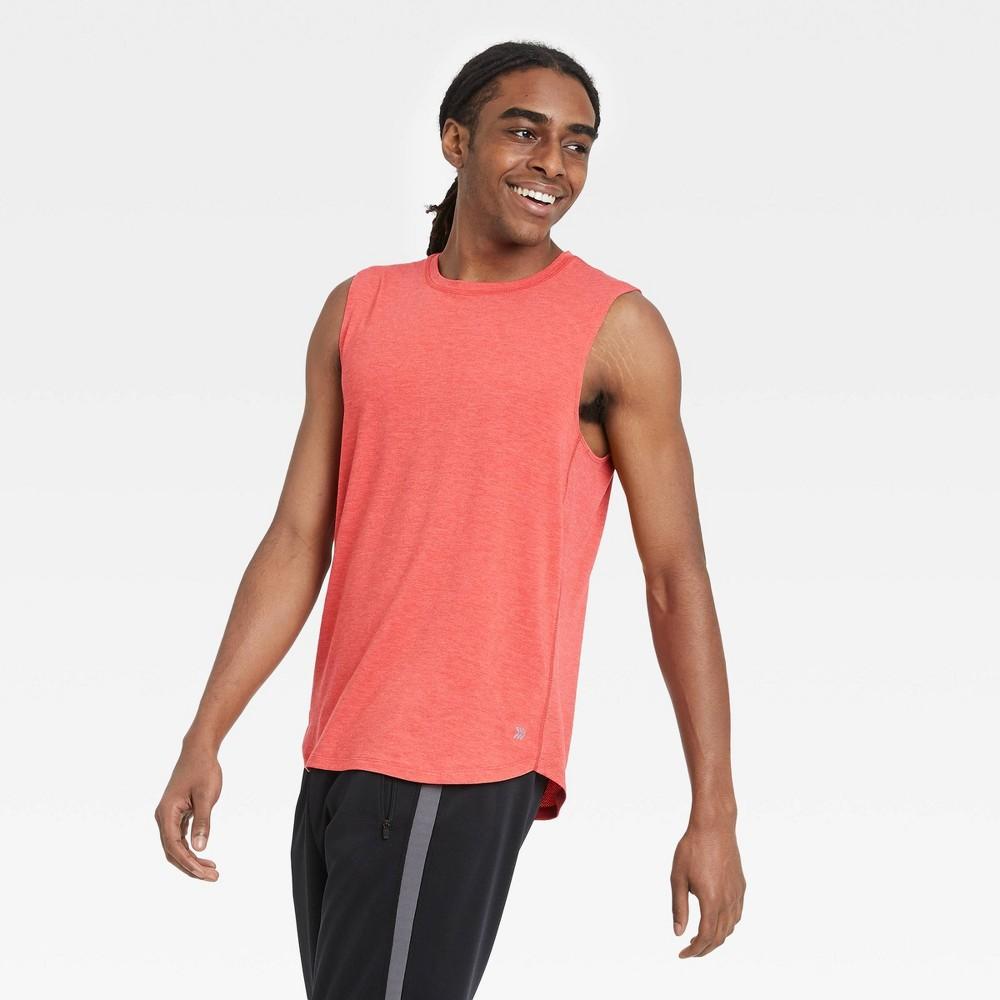 Men 39 S Big 38 Tall Sleeveless Run T Shirt All In Motion 8482 Red Xxxl