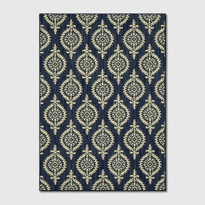 7'X10' Paisley Tufted Area Rugs Indigo - Threshold™
