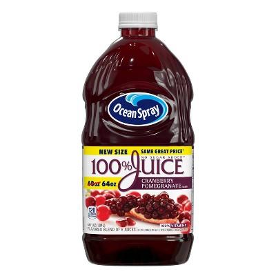 Ocean Spray 100% Cranberry-Pomegranate Juice - 64 fl oz Bottle