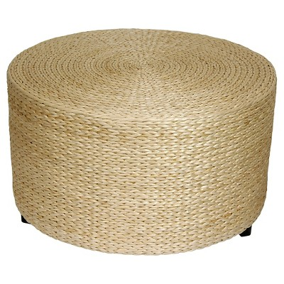Rush Grass Coffee Table/Ottoman Natural - Oriental Furniture