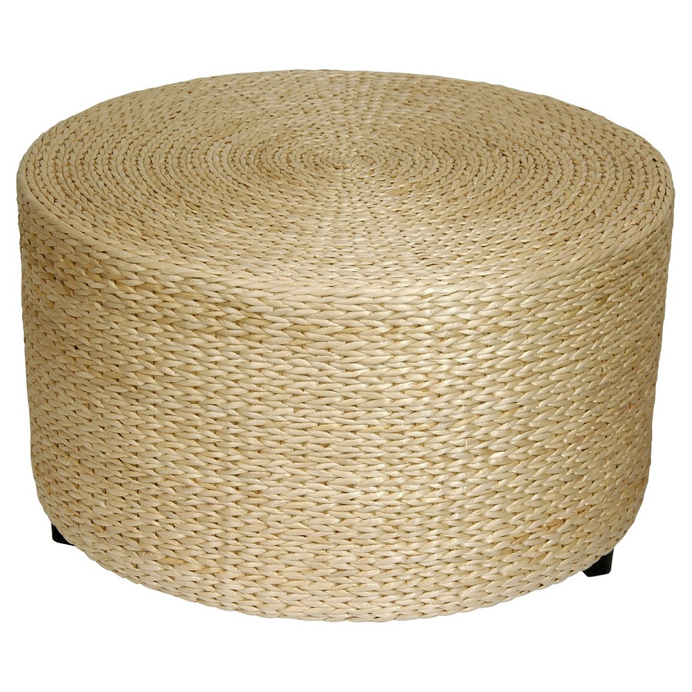 Image of Rush Grass Coffee Table/Ottoman Natural - Oriental Furniture