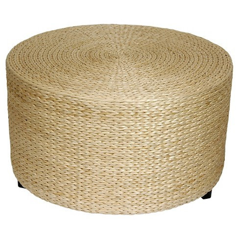 Rush Grass Coffee Table/Ottoman Natural - Oriental Furniture - image 1 of 3