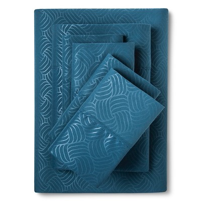 King 6pc Natalia Cavalletto Swirl Design Sheet Set Dark Teal - Christopher Knight Home