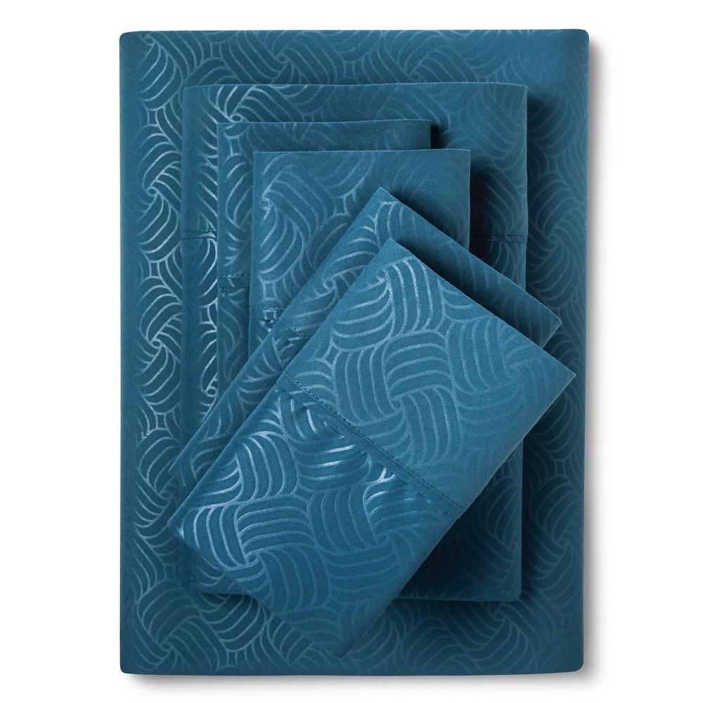 Image of Christopher Knight Home Natalia Cavalletto Swirl Design Sheet Set -Dark Teal (King), Dark Teal
