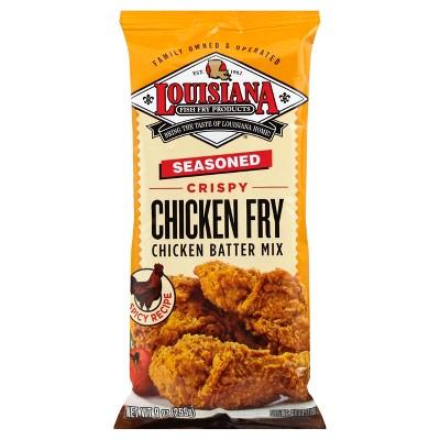 Louisiana Seasoned Crispy Chicken Fry Batter Mix - 9oz