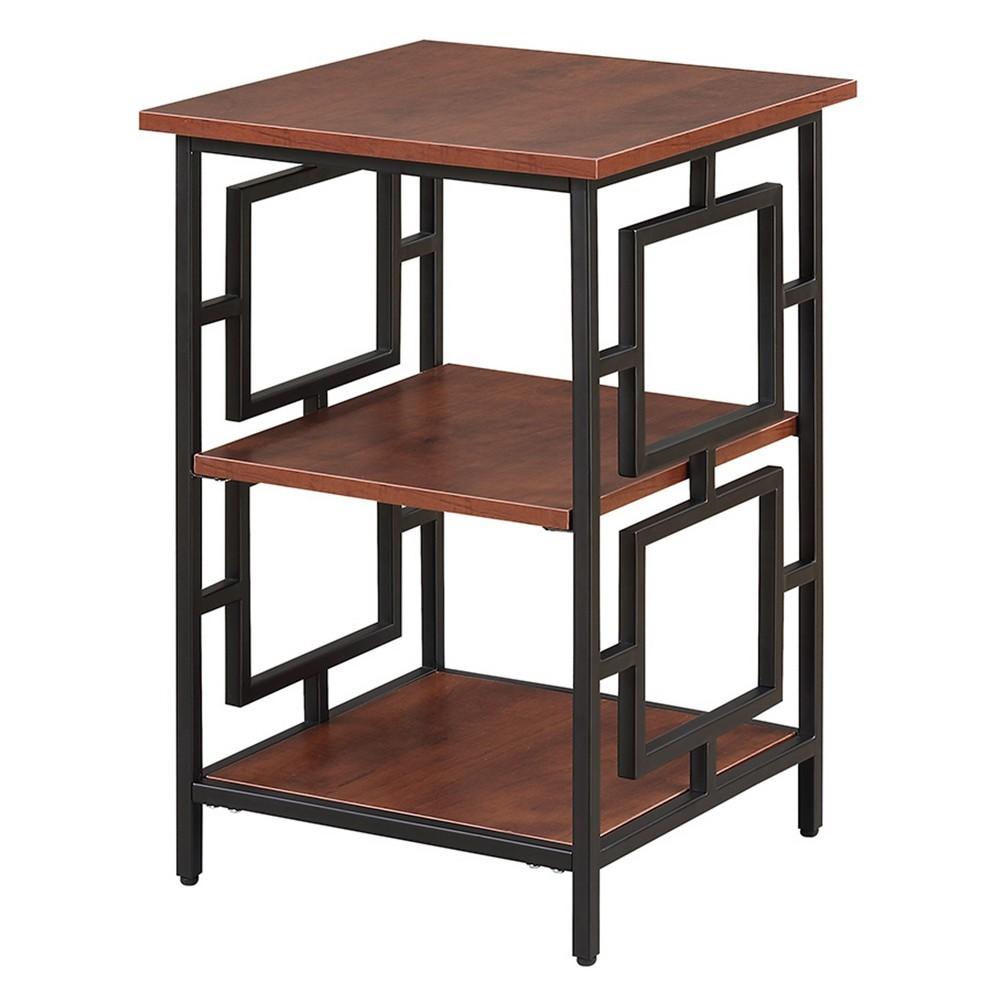 Johar Furniture Town Square Metal End Table Cherry/Black