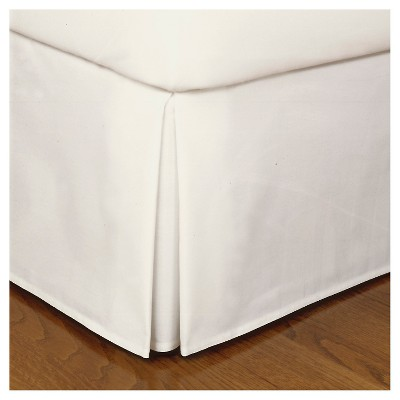 Ivory Tailored Microfiber 14  Bed Skirt (Queen)