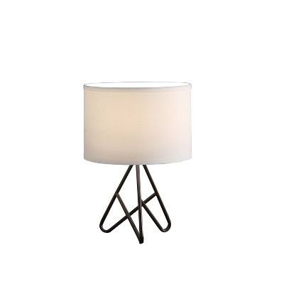 "17.5"" Modern Metal Tripod Table Lamp Black - Ore International"