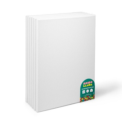 "6pk 9""x12"" Stretched Canvas White - Mondo Llama™"