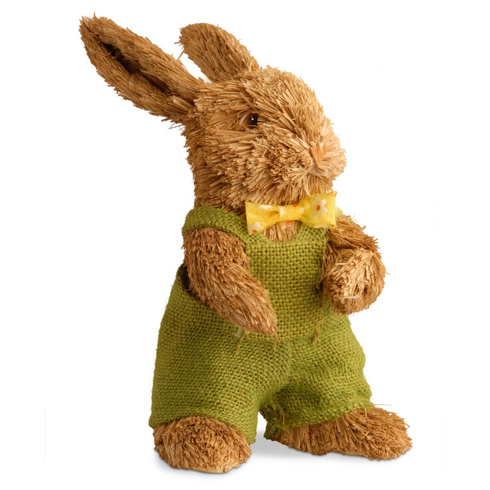 "Image of ""11"""" Dapper Brown Bunny - National Tree Company, Yellow Green Brown"""