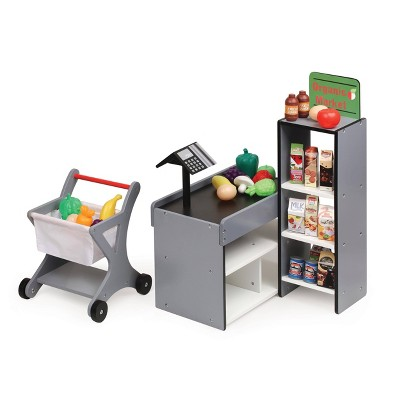 Badger Basket Fresh Market Doll Playset with Shopping Cart and Accessories