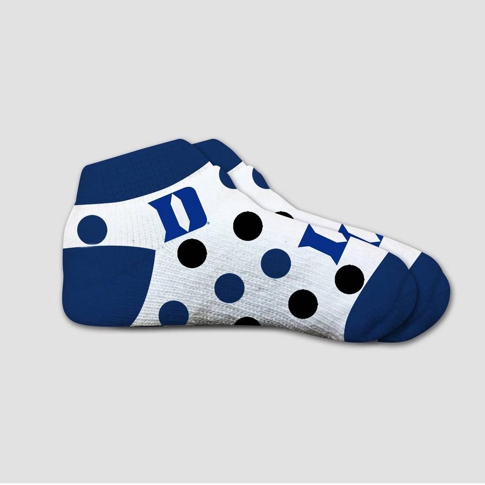 NCAA Duke Blue Devils Polka Dot Infant Socks 2T-4T, Infant Unisex