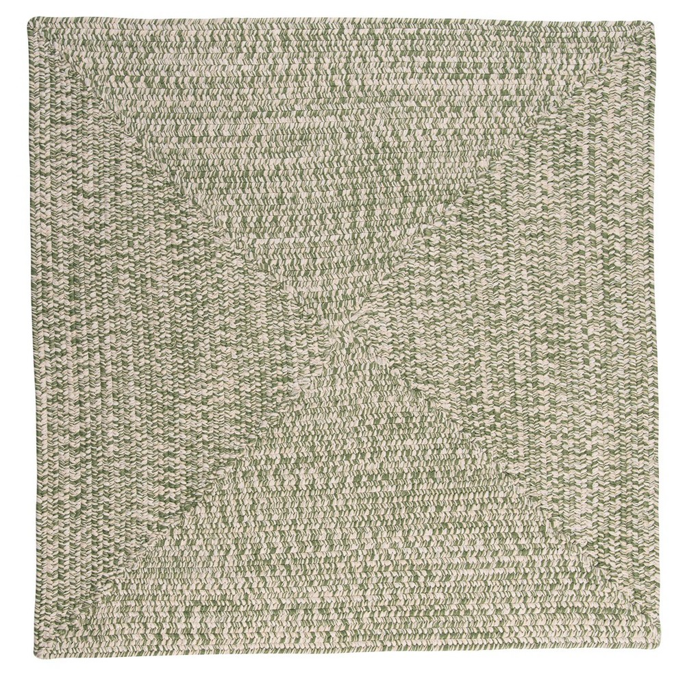 Island Tweed Braided Square Area Rug Green