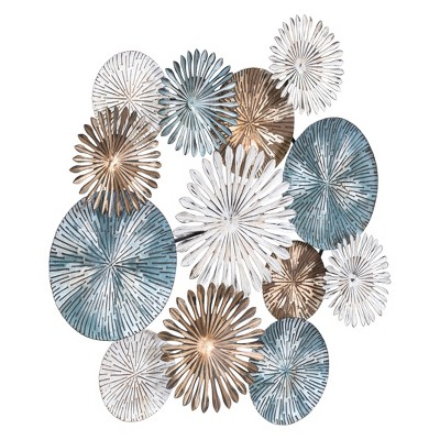 ZM Home 32  Abstract Floral Wall Sculpture