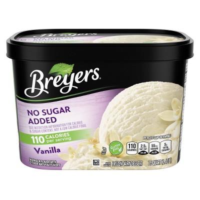 Breyers No Sugar Added Vanilla Frozen Dairy Dessert - 48oz