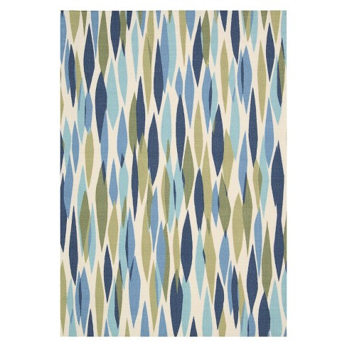 Waverly Contemporary Indoor/Outdoor Rug - Blue/Multi (8'x11') - image 1 of 4