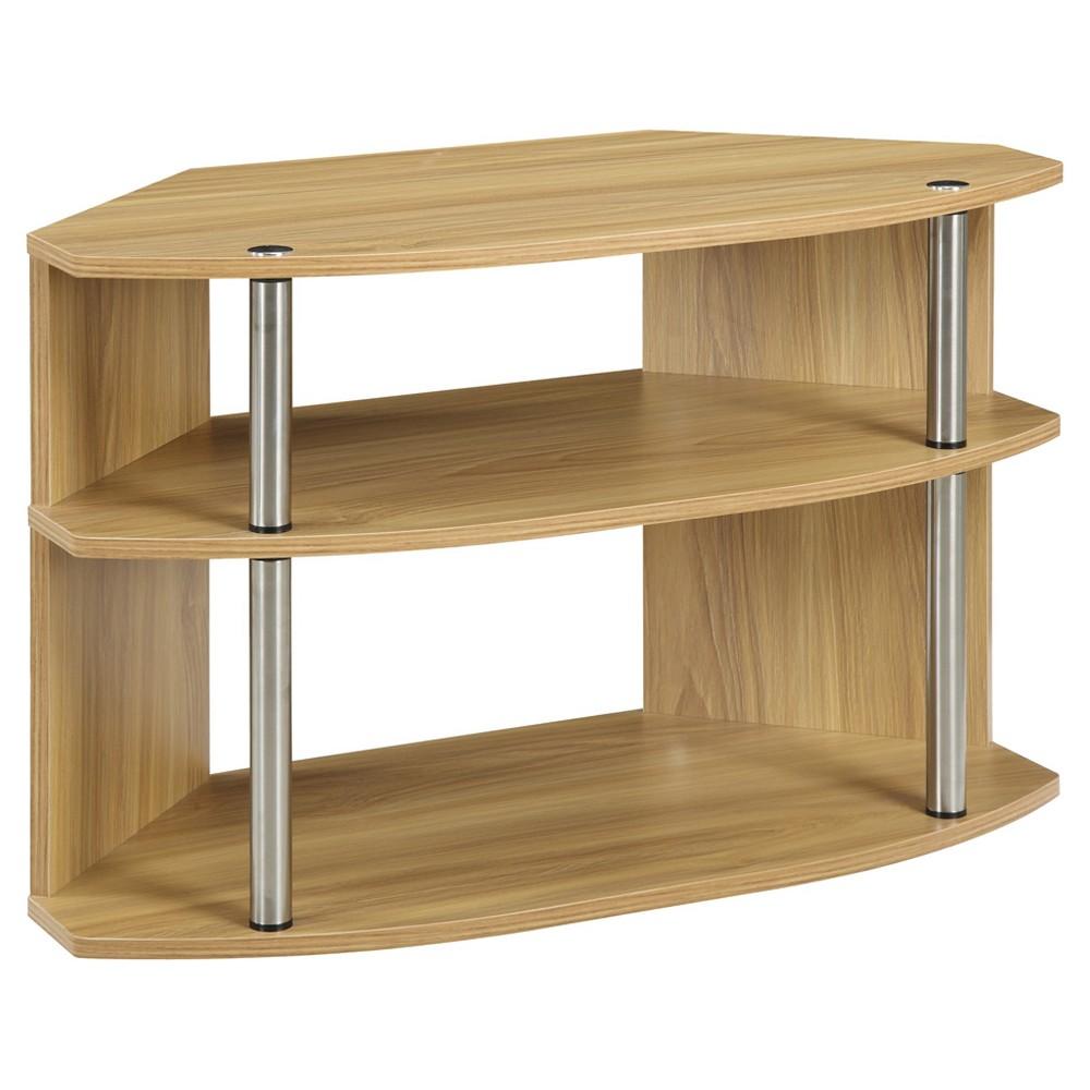 "Image of ""32"""" Swivel TV Stand Light Oak - Johar Furniture, Brown"""