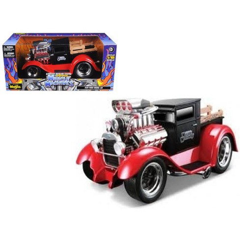 """1929 Ford Model AA Matt Black/Red Muscle Machines"""" 1/18 Diecast Model Car by Maisto"""" - image 1 of 1"""