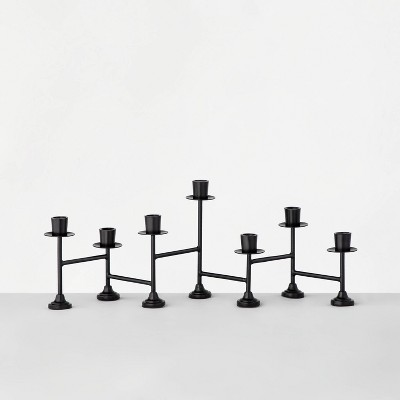 Black Metal Tabletop Candelabra 7ct Taper - Hearth & Hand™ with Magnolia