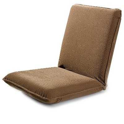 Plow & Hearth - Fully Adjustable Five-Position Multiangle Floor Chair, Chocolate