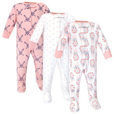 Yoga Sprout Baby Girl Cottton Zipper Sleep and Play 3pk, Dream Catcher