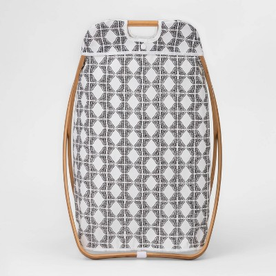 Bamboo X Framed Bamboo Hamper Geo Pattern - Threshold™