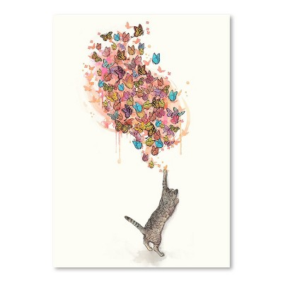 Americanflat Catching Butterflies by Laura Graves Poster