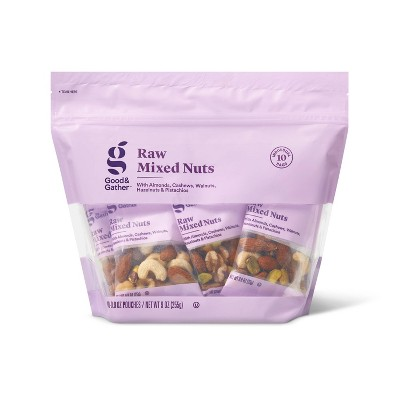 Unsalted Raw Mixed Nuts - 9oz/10ct - Good & Gather™