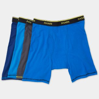 Hanes Men's Cool Comfort Long Leg Boxer Briefs 4pk - S