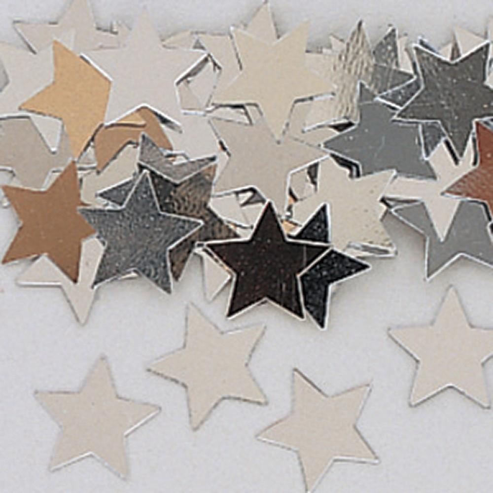 Metallic Star Confetti, Silver