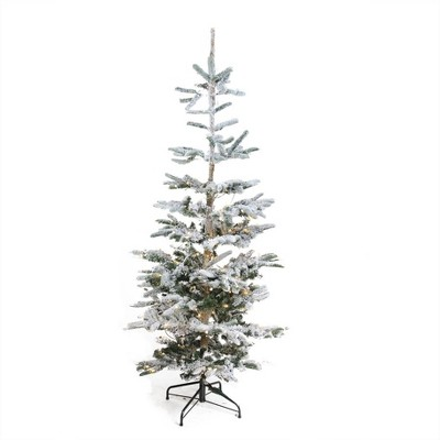 Northlight 9' Prelit Artificial Christmas Tree Noble Fir Flocked - Warm Clear LED Lights