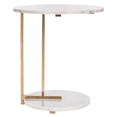 Aphrodite Marble End Table Gold - Safavieh