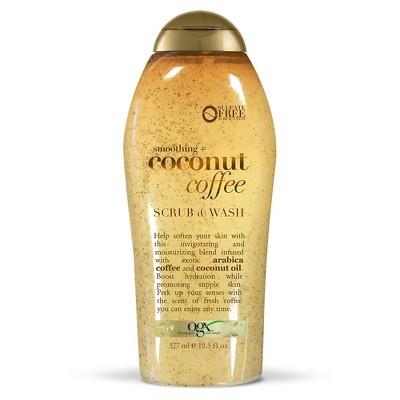 Body Washes & Gels: OGX Coconut Coffee Scrub & Wash