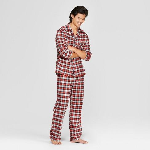 f1c6dc7551 Men s Plaid Flannel Pajama Set - Goodfellow   Co™ Jewel Orange
