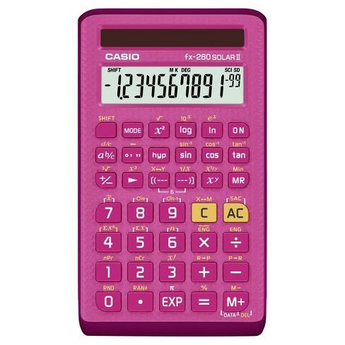 casio fx 260solarii scientific calculator pink 260pk bts17 target