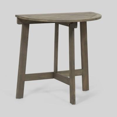 Westmount Half-Round Acacia Folding Patio Bistro Table - Christopher Knight Home