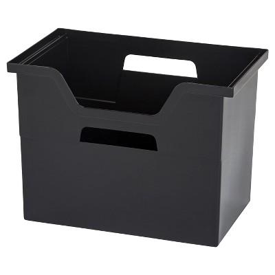 IRIS 4pk Large Desktop File Storage Box Black