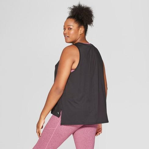 b3c85810e Women s Plus Size Muscle Tank Top - JoyLab™ Black 1X   Target